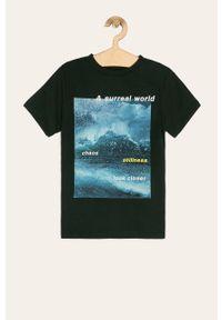 Czarny t-shirt LMTD na co dzień, casualowy, z nadrukiem