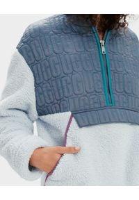 Ugg - UGG - Niebieska bluza Iggy. Kolor: szary. Materiał: materiał. Styl: klasyczny