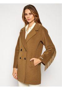 Brązowy płaszcz przejściowy Marella