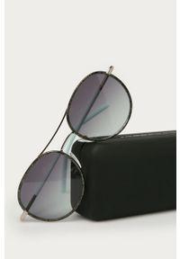 Szare okulary przeciwsłoneczne Karl Lagerfeld gładkie
