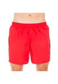 NABAIJI - Szorty Pływackie 100 Basic Męskie. Kolor: czerwony. Materiał: poliamid, materiał