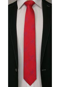 Czerwony krawat Angelo di Monti w kratkę, elegancki