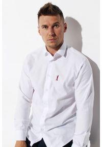 Biała koszula Edward Orlovski z klasycznym kołnierzykiem, krótka