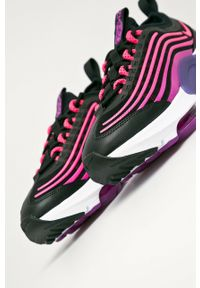 Czarne buty sportowe Nike Sportswear z okrągłym noskiem, na sznurówki