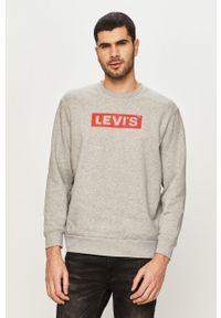 Levi's® - Levi's - Bluza. Okazja: na co dzień, na spotkanie biznesowe. Kolor: szary. Wzór: nadruk. Styl: casual, biznesowy
