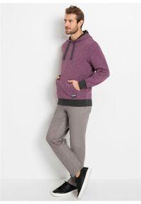Bluza z kapturem bonprix matowy jeżynowy melanż. Typ kołnierza: kaptur. Kolor: różowy. Wzór: melanż. Styl: sportowy