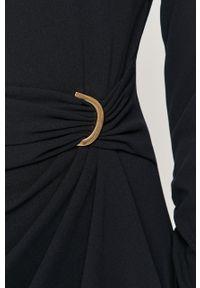 Niebieska sukienka DKNY mini, prosta, biznesowa