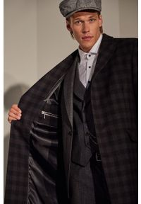 Czarna kurtka Answear Lab casualowa, z klasycznym kołnierzykiem
