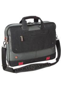 Torba I-STAY dwukomorowa z klapą na laptopa 15,6'' szara (IS0502). Kolor: szary