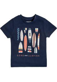 Mayoral T-Shirt 1023 Granatowy Regular Fit. Kolor: niebieski