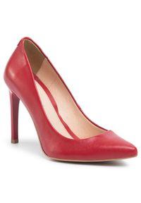 Czerwone półbuty Baldaccini eleganckie, na średnim obcasie