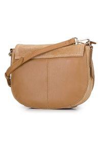 Wittchen - Damska listonoszka saddle bag z zamszu. Wzór: haft. Dodatki: z haftem. Materiał: zamszowe, skórzane. Styl: elegancki #4
