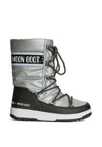 Moon Boot - Buty zimowe MOON BOOT JR G.QUILTED WP. Materiał: skóra ekologiczna, nylon, syntetyk, puch, kauczuk. Szerokość cholewki: normalna. Sezon: zima
