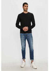 Czarna bluza nierozpinana Calvin Klein Jeans casualowa, bez kaptura
