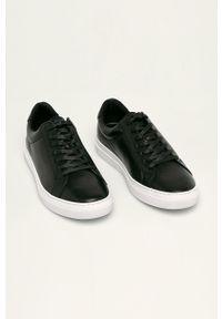 Czarne sneakersy vagabond z cholewką, na sznurówki