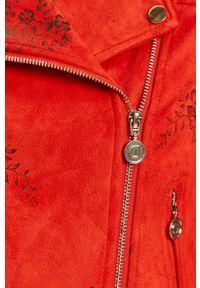 Czerwona kurtka Desigual casualowa, bez kaptura