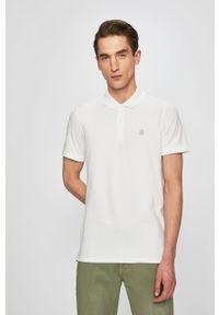 Biała koszulka polo Selected krótka, polo
