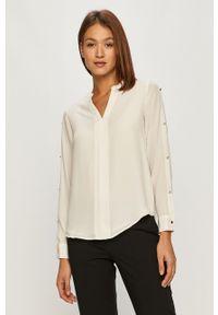Biała bluzka DKNY na co dzień, casualowa, z długim rękawem, długa