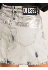 Diesel Spódnica jeansowa 00SUID 0890Q Szary Slim Fit. Kolor: szary. Materiał: jeans