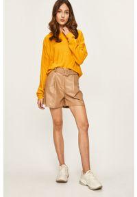 Żółty sweter ANSWEAR z kapturem