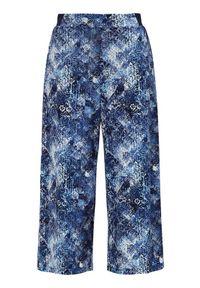 Cellbes Wzorzyste spodnie typu culotte z dżerseju niebieski we wzory female niebieski/ze wzorem 38/40. Okazja: na co dzień. Kolor: niebieski. Materiał: jersey. Styl: elegancki, casual