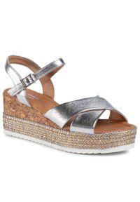 Srebrne sandały Jenny Fairy casualowe, na co dzień
