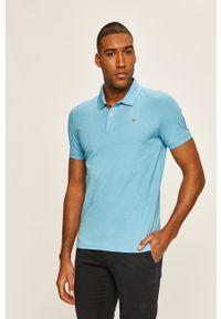 Niebieska koszulka polo Tom Tailor Denim polo, casualowa