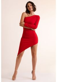 Czerwona sukienka IVON ołówkowa