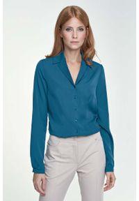 Morska koszula Nife elegancka, długa, z długim rękawem