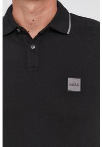 BOSS - Boss - Polo Boss Casual. Okazja: na co dzień. Typ kołnierza: polo. Kolor: czarny. Długość: krótkie. Styl: casual