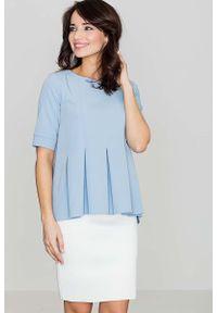 Niebieska bluzka Katrus elegancka