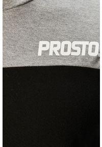 Czarna koszulka z długim rękawem Prosto. z okrągłym kołnierzem, casualowa