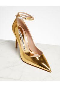 ALEXANDRE VAUTHIER - Złote szpilki Aoki. Kolor: złoty. Materiał: lakier. Obcas: na szpilce. Styl: elegancki