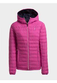 Różowa kurtka puchowa outhorn melanż