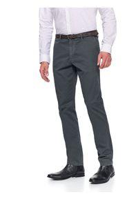 Szare spodnie TOP SECRET klasyczne, jodełka