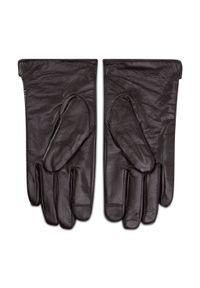 Semi Line - Rękawiczki Męskie SEMI LINE - P8216-1 Brązowy. Kolor: brązowy. Materiał: skóra