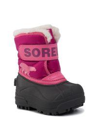 sorel - Śniegowce SOREL - Toodler Snow Commander NV1960 Tropic Pink/Deep Blush 652. Kolor: różowy. Materiał: skóra ekologiczna, guma, materiał. Szerokość cholewki: normalna