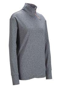 Szara bluza bonprix z długim rękawem, melanż