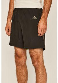 Czarne szorty adidas Performance sportowe