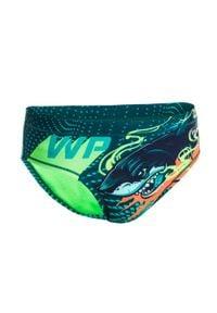 WATKO - Slipki Do Waterpolo Shark Dla Dzieci. Kolor: zielony. Materiał: materiał, poliester