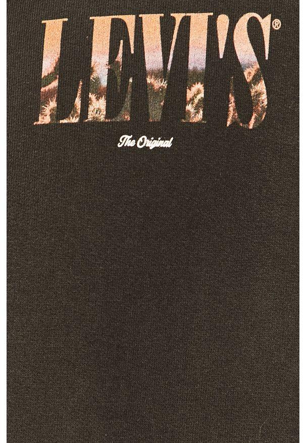 Czarna bluza rozpinana Levi's® biznesowa, z kapturem, na co dzień