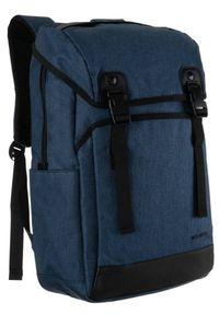DAVID JONES - Plecak granatowy unisex David Jones PC037 D.BLUE. Kolor: niebieski. Materiał: materiał
