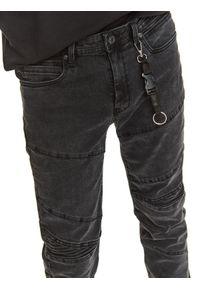 TOP SECRET - Spodnie denim z przeszyciami. Kolor: szary. Materiał: denim. Długość: długie. Sezon: jesień. Styl: klasyczny