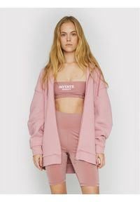 ROTATE Bluza Selma RT463 Różowy Loose Fit. Kolor: różowy