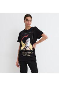 Czarny t-shirt Mohito z motywem z bajki