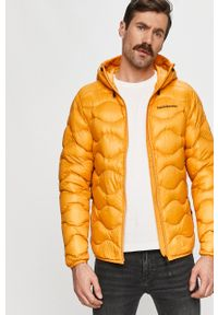 Żółta kurtka Peak Performance na co dzień, casualowa, z kapturem