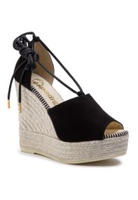 Czarne sandały Espadrilles casualowe, na co dzień