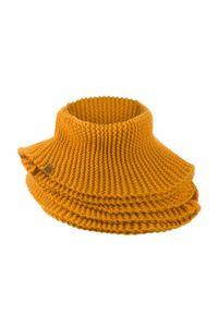 BRODRENE - Komin zimowy szal Brodrene K5 żółty. Kolor: żółty. Materiał: materiał. Sezon: zima