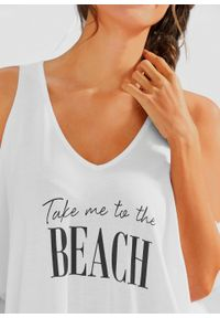 Biała bluzka bonprix na plażę