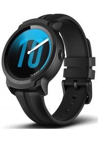 TICWATCH Zegarek E2, Shadow Black. Rodzaj zegarka: smartwatch. Kolor: czarny. Styl: sportowy